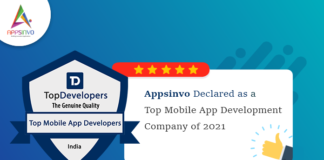 Appsinvo Declared as a Top Mobile App Development Company of 2021
