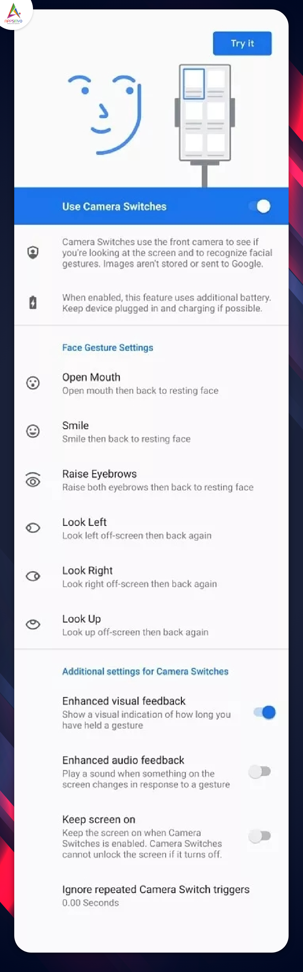 Android 12 Beta Version Adds Face Gesture Feature1-byappsinvo.